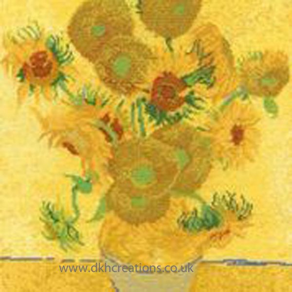 Van Gogh Sunflowers Cross Stitch Kit